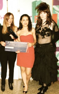 Laura with festival winner Lucy Mulloy & Anna Karina de Carvalho